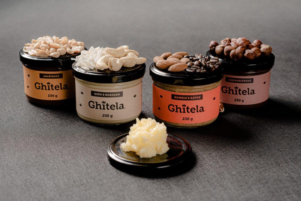 Produktová řada ořechových krémů Ghítela®.